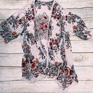 Floral lace kimino